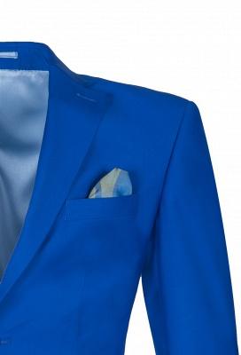 Royal Blue Peak Lapel High Quality Fashion Custom Made Wedding Suit_4