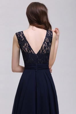 Elegant A-line  Lace Scoop Sleeveless Floor-Length Bridesmaid Dress_6