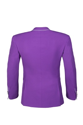 Lilac Latest Design Peak Lapel Single Breasted Two Button Wedding Suit_3