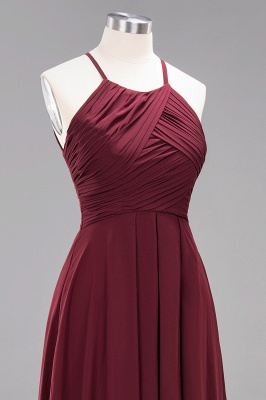 A-Line  Halter Ruffles Floor-Length Bridesmaid Dress_46