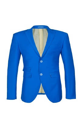 Ocean Blue Casual Suit Peak Lapel Single Breasted Bridegroom_2