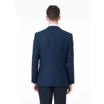 Lattice Two Button Peak Lapel Two Pieces with Pants Comfortable Groomsmen_2