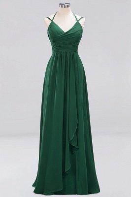 A-line  Spaghetti Straps Sleeveless Ruffles Floor-Length Bridesmaid Dresses_18