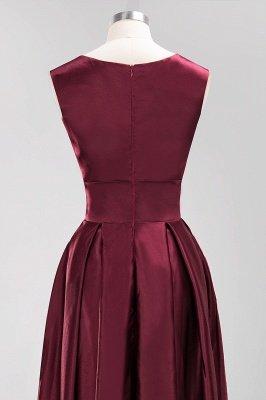 A-line Satin Deep-V-Neck Sleeveless Ruffles Floor-length Bridesmaid Dress_6