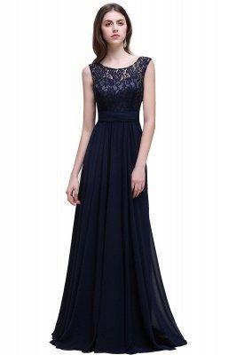 Elegant A-line  Lace Scoop Sleeveless Floor-Length Bridesmaid Dress_1