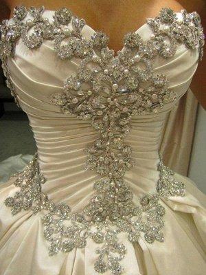 Romantic Taffeta Sleeveless Cathedral Train Ruffles Puffy Sweetheart Wedding Dresses_6