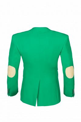 Turquoise Customize Single Breasted Peak Lapel Groomsmen Popular Wedding Suit_3