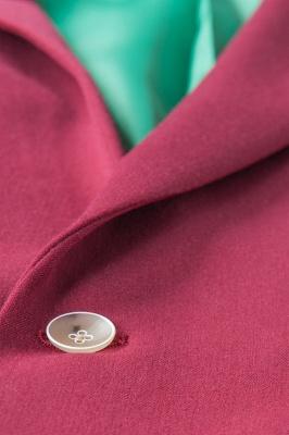Burgundy Stylish Design Peak Lapel Single Breasted Wedding Suit High Quality_6