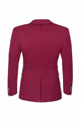 Burgundy Stylish Design Peak Lapel Single Breasted Wedding Suit High Quality_3