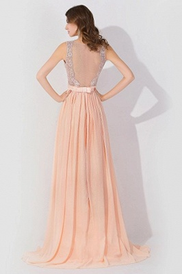 A-Line  Lace Jewel Sleeveless Floor-Length Bridesmaid Dress with Ruffles_2
