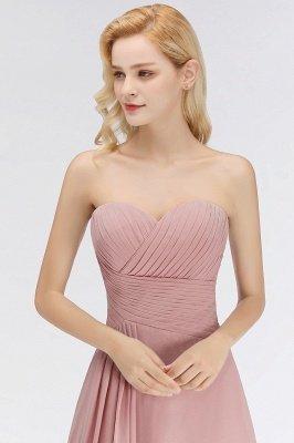 Elegant Ruched Sweetheart Long Chiffon Bridesmaid Dress_4