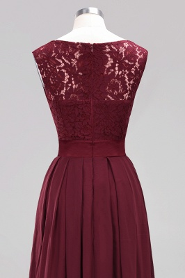 Simple A-Line Chiffon Bridesmaid Dresses   Scoop Sleeveless Lace Appliques Maid of the Honor Dresses_13