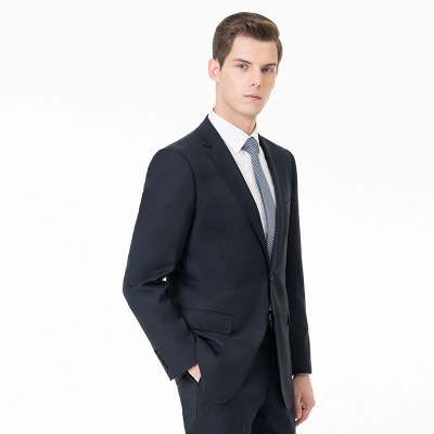 Comfortable Two Button Peak Lapel Two Pieces with Pants Slim Fit_3