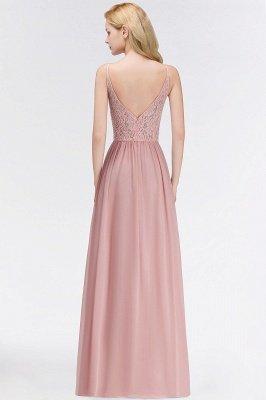Halter Floor-Length Keyhole Lace Chiffon Long Bridesmaid Dress_5