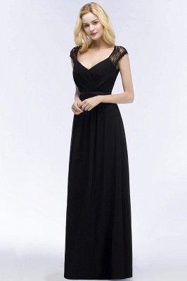 Elegant Mermaid Lace V-Neck Sleeveless Floor-Length Bridesmaid Dresses with Sash_4