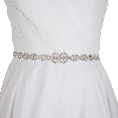 Elegant Satin Wedding Sashes with Rhinestone