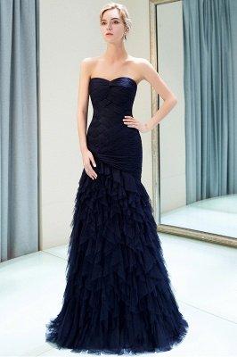 Elegant Mermaid Sweetheart Ruffles Floor-Length Prom Dresses | Evening Gown_1