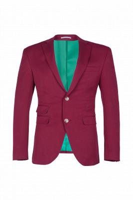 Burgundy Stylish Design Peak Lapel Single Breasted Wedding Suit High Quality_1