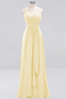 A-line  Spaghetti Straps Sleeveless Ruffles Floor-Length Bridesmaid Dresses_10