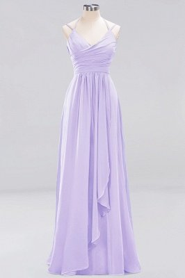 A-line  Spaghetti Straps Sleeveless Ruffles Floor-Length Bridesmaid Dresses_13