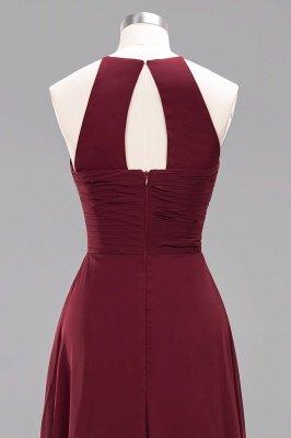 A-Line  Halter Ruffles Floor-Length Bridesmaid Dress_47