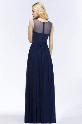 A-line  Appliques Scoop Sleeveless Floor-Length Bridesmaid Dresses_2