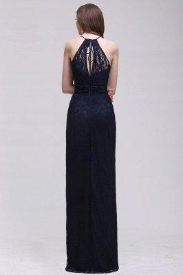 Elegant A-Line Lace Halter Sleeveless Floor-length Bridesmaid Dress_2