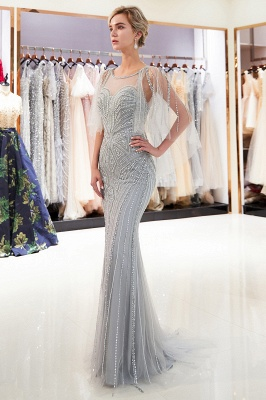 Sexy Mermaid  Sequins Beading Sweetheart Prom Dress   2019 Evening Dresses_2