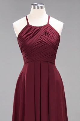 A-Line  Halter Ruffles Floor-Length Bridesmaid Dress_44
