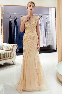 Glamorous Mermaid Off-the-Shoulder Prom Dress | 2019 Long Prom Dress with Crystals_1