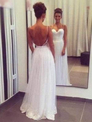 Stunning Floor-Length Ruffle Sleeveless Sweetheart Tulle Wedding Dresses_1