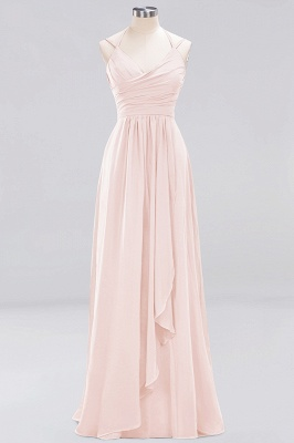A-line  Spaghetti Straps Sleeveless Ruffles Floor-Length Bridesmaid Dresses_4