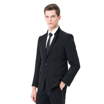 Fashion Peak Lapel Two Pieces with Pants Wedding Suits_2