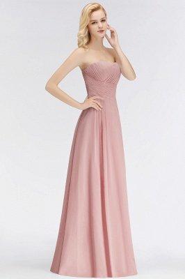 Elegant Ruched Sweetheart Long Chiffon Bridesmaid Dress_5