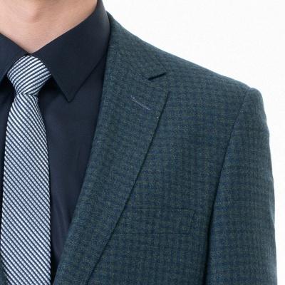 Customize Lattice Two-piece Suit Peak Lapel Single Breasted Career Suits_5