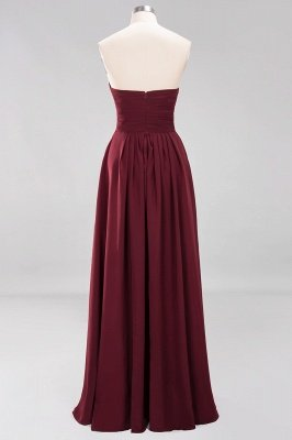 A-line  Sweetheart Strapless Ruffles Floor-length Bridesmaid Dress_44