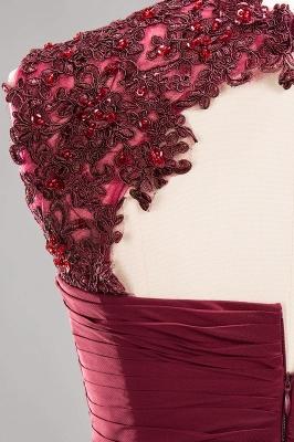 A-line  Appliques Jewel Sleeveless Knee-Length Bridesmaid Dresses with Ruffles_7
