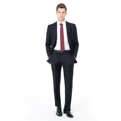 High Quality Peak Lapel Single Breasted Two Pieces with Pants_3