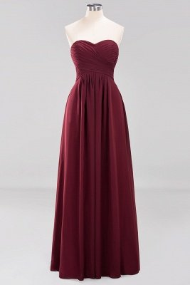 A-line  Sweetheart Strapless Ruffles Floor-length Bridesmaid Dress_10
