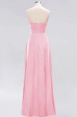 A-line  Spaghetti Straps Sleeveless Ruffles Floor-Length Bridesmaid Dresses_3