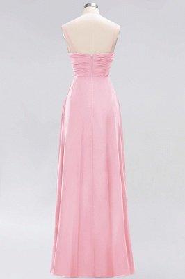 A-line  Spaghetti Straps Sleeveless Ruffles Floor-Length Bridesmaid Dresses_3