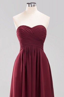 A-line  Sweetheart Strapless Ruffles Floor-length Bridesmaid Dress_46