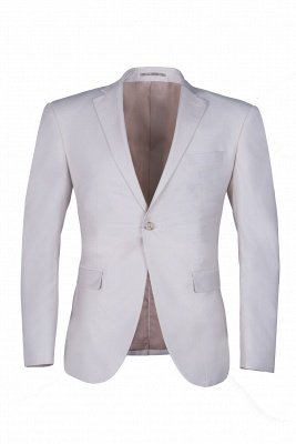 Customize Casual Suit Groomsmen Ivory Peak Lapel Single Breasted High Quality_1