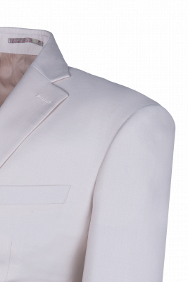Customize Casual Suit Groomsmen Ivory Peak Lapel Single Breasted High Quality_5