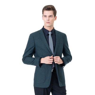 Customize Lattice Two-piece Suit Peak Lapel Single Breasted Career Suits_3