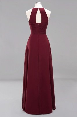 A-Line  Halter Ruffles Floor-Length Bridesmaid Dress_42