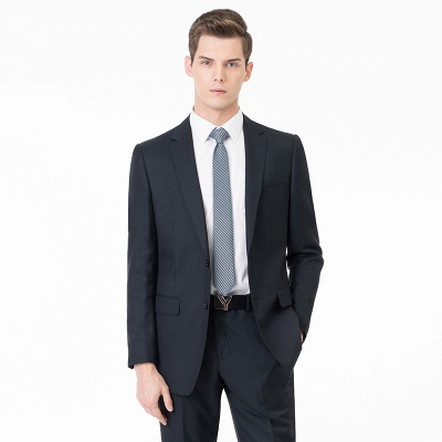 Comfortable Two Button Peak Lapel Two Pieces with Pants Slim Fit_1