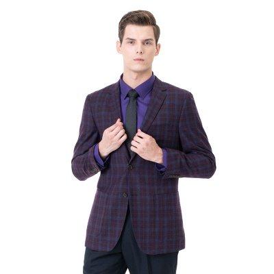 Custom Made Comfortable Lattice Two-piece Suit Peak Lapel_3