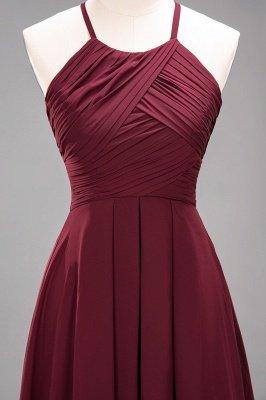A-Line  Halter Ruffles Floor-Length Bridesmaid Dress_45