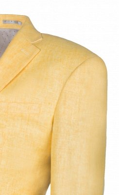 Peak Lapel Two Button Daffodil High Quality Wedding Suit Casual Suit_4